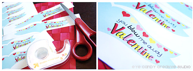 supplies needed to make valentine bubble flags, kids non candy valentine