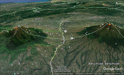 Screen capture Pelana Kledung di Google Earth.