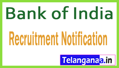 BOI Bank of India Recruitment Notification