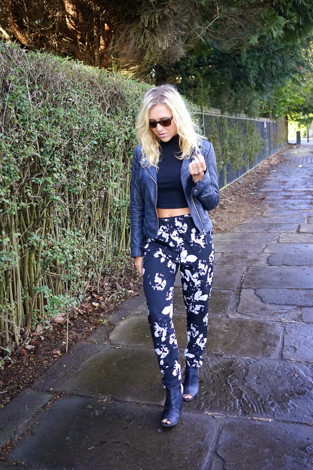 lipsy floral trousers