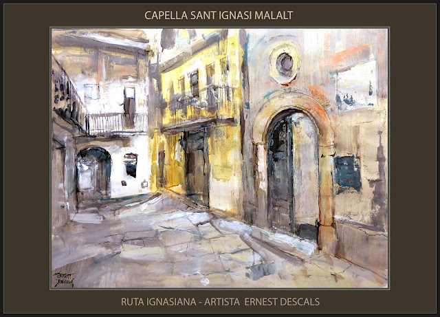CAPELLA-SANT IGNASI MALALT-PINTURA-MANRESA-ART-RUTA IGNASIANA-SANT IGNASI-VIVENCIES-PINTURES-ARTISTA-PINTOR-ERNEST DESCALS-