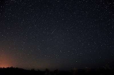 Starry night sky in deserts of Iran.