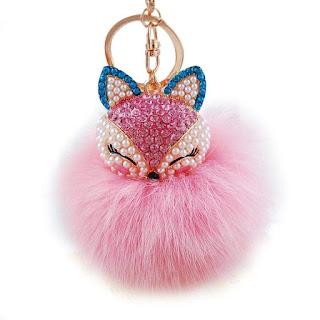 Plush Cute Pearl Rhinestone Fur for girls