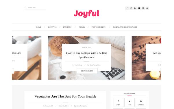 JoyFul Free Blogger Template