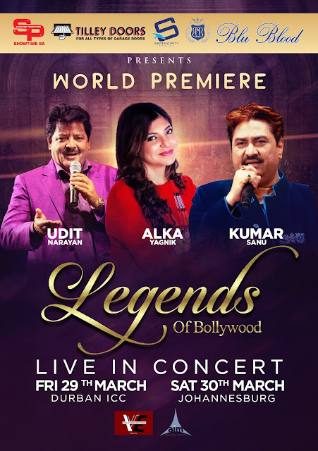 A Walk Down Memory Lane in World Premiere Concert #LegendsOfBollywood @BluBloodSA