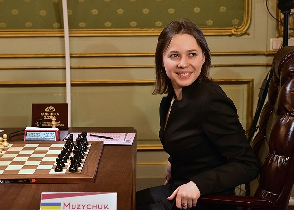 L'Ukrainienne Mariya Muzychuk lors de la 9ème et ultime partie - Photo © Vitaliy Hrabar
