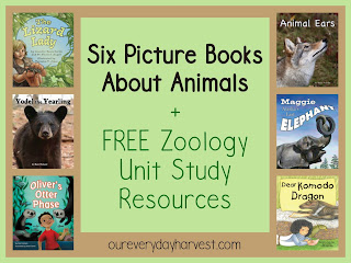Animal Picture Books and FREE Zoology Unit Studies