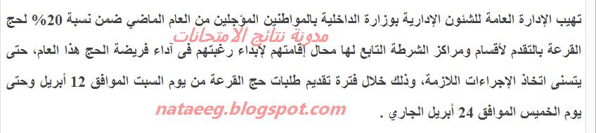 التفاصيل الكامله عن قرعة الحج وقرعة حج الجمعيات الاهليه 2014 وموعد أعلان اسماء الفائزين