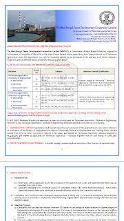 WBPDCL Recruitment 2019, Technician Engineer Recruitment