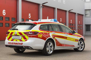 Opel Insignia Sports Tourer Feuerwehr Command Vehicle (2017) Rear Side