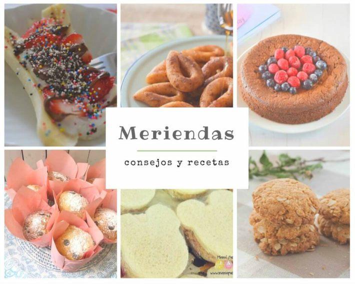 Collage de fotos de recetas de meriendas infantiles