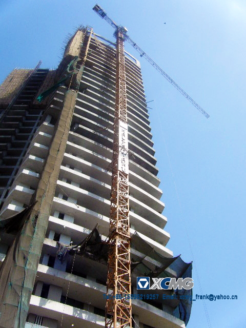 XCMG QTZ63B TOWER CRANE FOR ONE LUXURY CIVIL HOUSE PROJECT