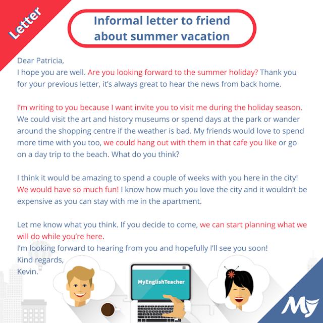 informal letter camping