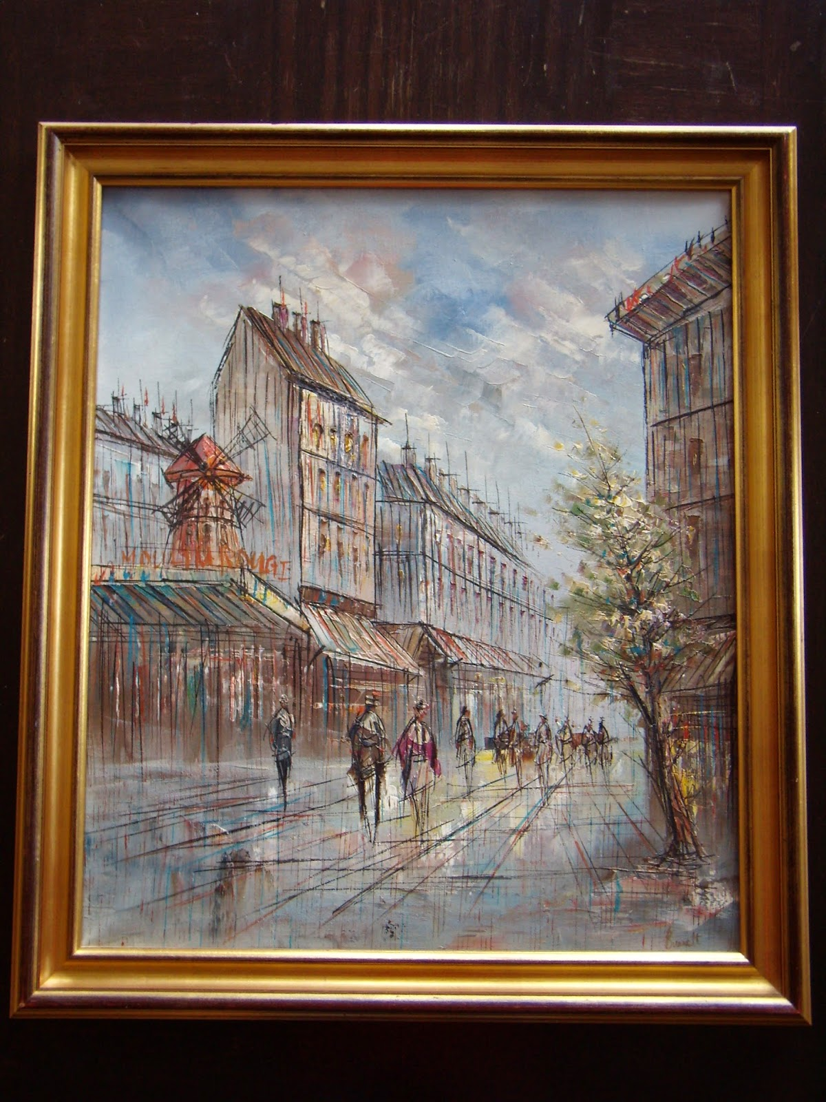 Private art collection: Caroline C  Burnett  PARIS STREET SCENE