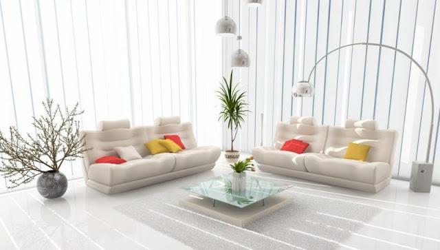 Desain Ruang Keluarga Bergaya Modern Serba Putih