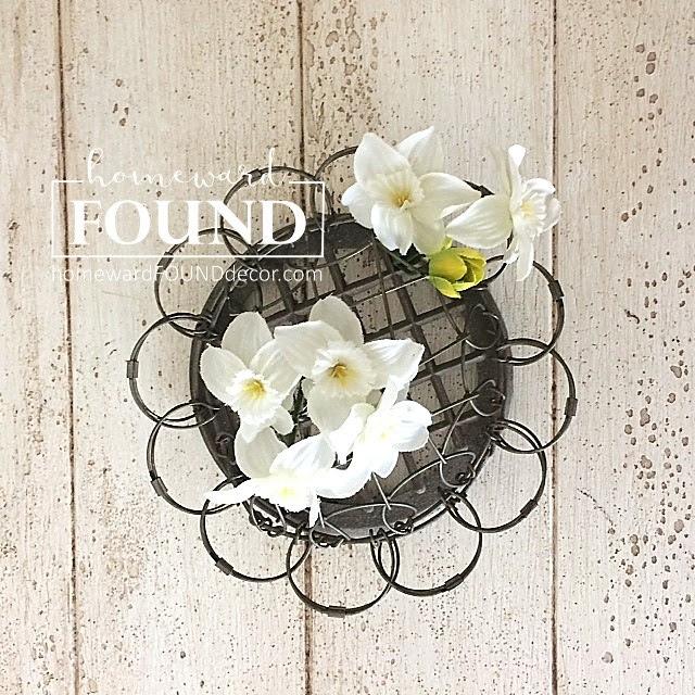 vintage flower frogs homewardFOUNDdecor.com blog spring 2018