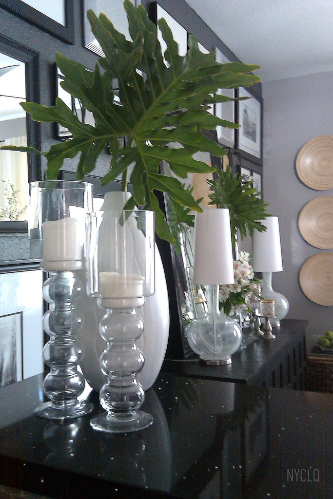 Focal Point Styling Decorating With Faux Amp Fresh Palm Fronds