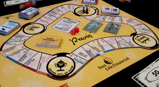DAVAO MEDIA ENJOYS SUNLIFE'S BRIGHTER LIFE PRAXIS BOARD GAME
