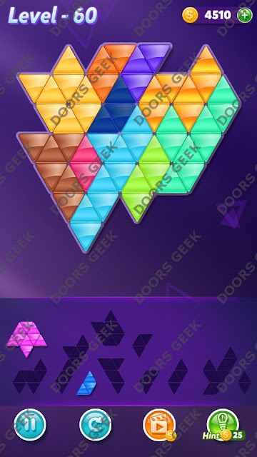 Block! Triangle Puzzle Master Level 60 Solution, Cheats, Walkthrough for Android, iPhone, iPad and iPod