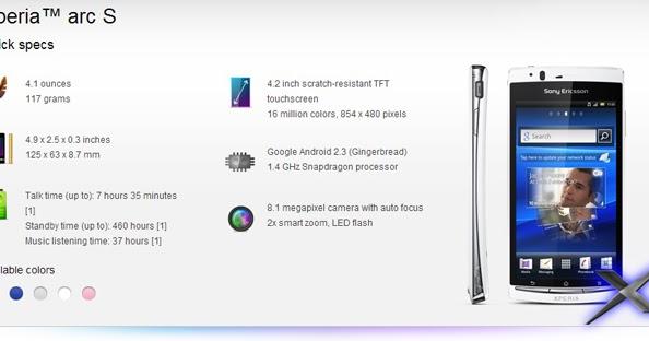 Phones 3XE: SonyEricsson Xperia Arc/Arc S, lt18i, Custom ...