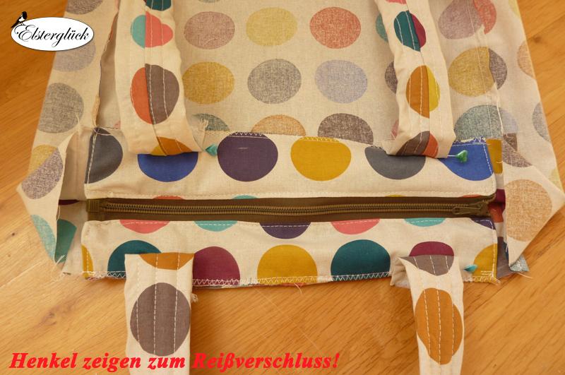 tutorial rei verschluss f r shopper tasche elstergl. Black Bedroom Furniture Sets. Home Design Ideas
