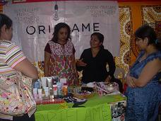 Oriflame Consultants at an Exhibition