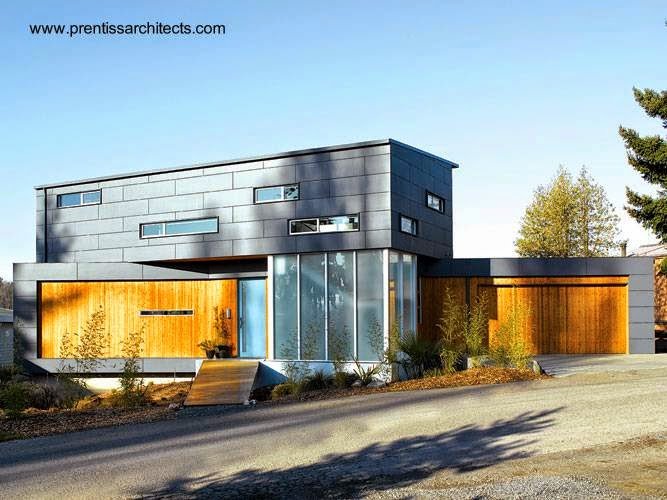 Casa residencial contemporánea de dos plantas en Seattle, Washington, Estados Unidos