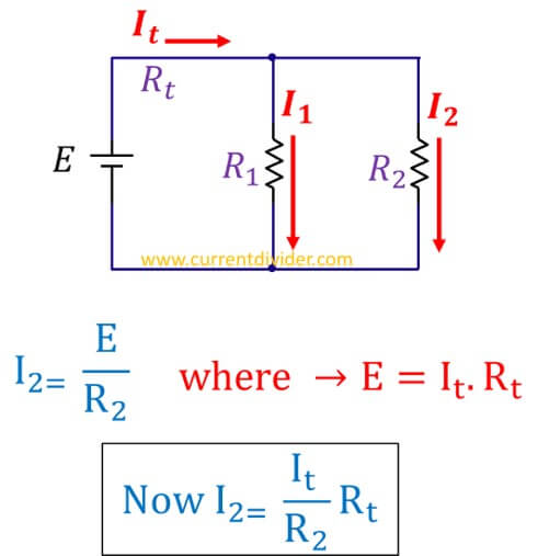 derivation-of-current-divider-for-two-resistors
