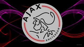 Abstracte Ajax wallpaper met rode en paarse lijnen