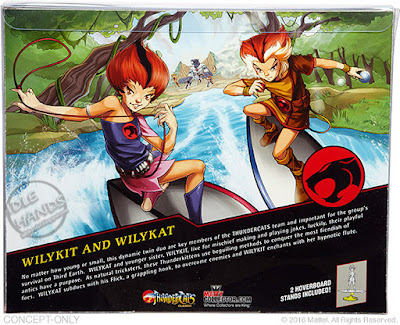 san diego comic-con 2016 mattel exlcusive THUNDERCATS WILY KIT and WILY KAT action figures