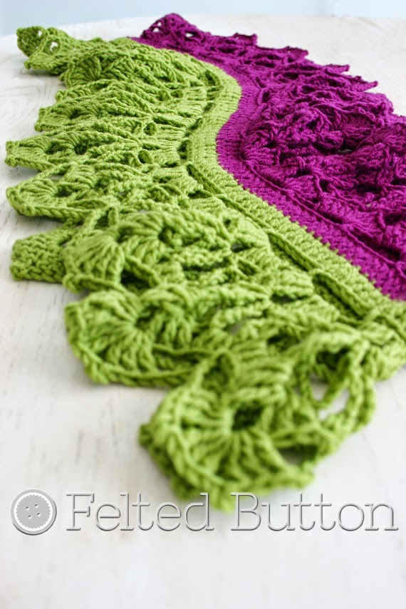 Garden Terrace Infinity Scarf crochet pattern by Susan Carlson of Felted Button