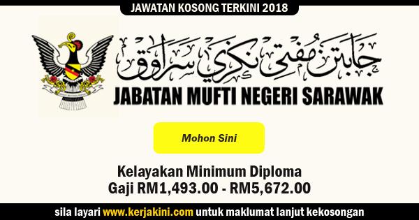 jawatan kosong jabatan mufti negeri sarawak