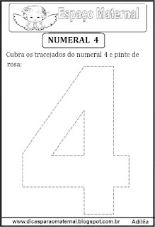 Numeral 4 pontilhado
