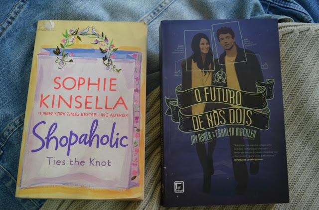 Livros O Futuro de Nós Dois e Shopaholic Ties the Knot