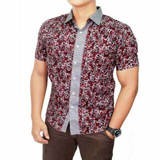Model Baju Muslim Pria Kombinasi Batik