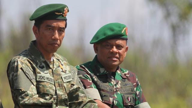 Presiden Jokowi dan Panglima TNI Gatot Nurmantyo