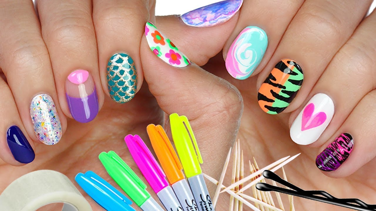 10 Nail Art Designs Done Using Household Items