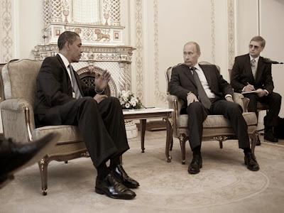 Putin displaying dominant gesture