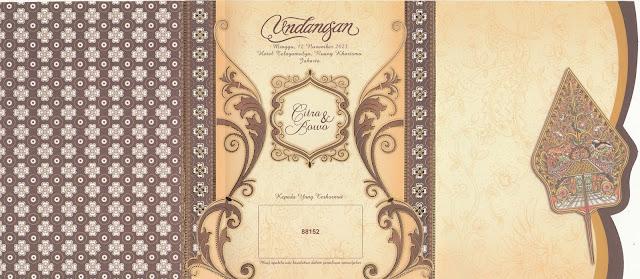 Undangan Pernikahan Motif Wayang - Erba 88152