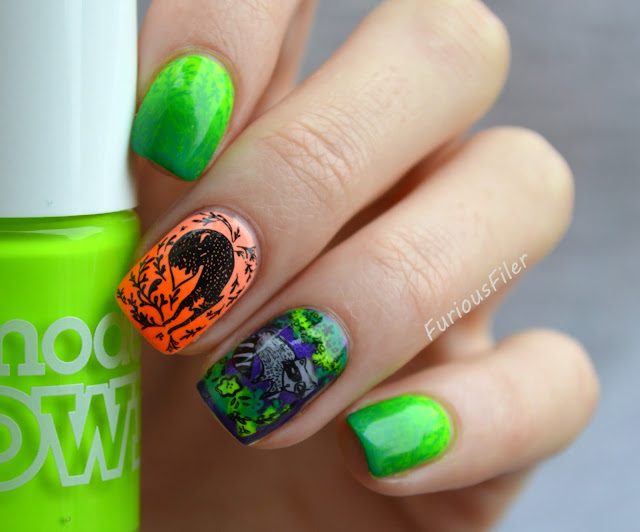 enchanted MoYou stamping gradeint reciprocal neon