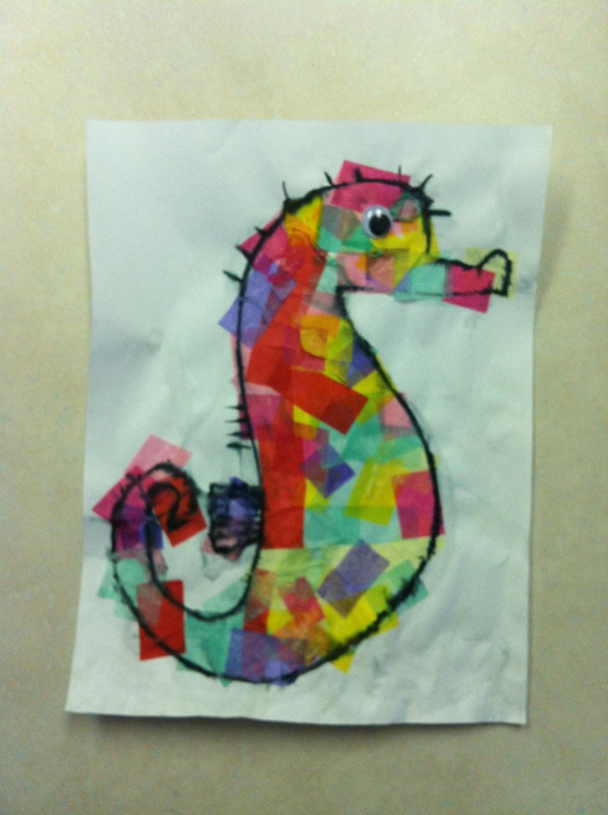 Handmade by CJ: Mister Seahorse Craft