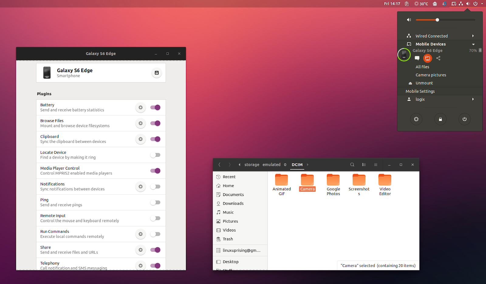 Gnome Shell Android Integration Extension GSConnect V12 Released