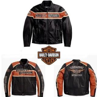 Gambar Jaket Kulit Bordir Harley Davidson
