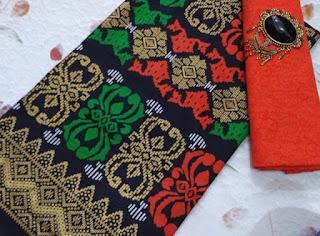 Kain Batik dan Embos 108 Pekalongan motif Prada Orange