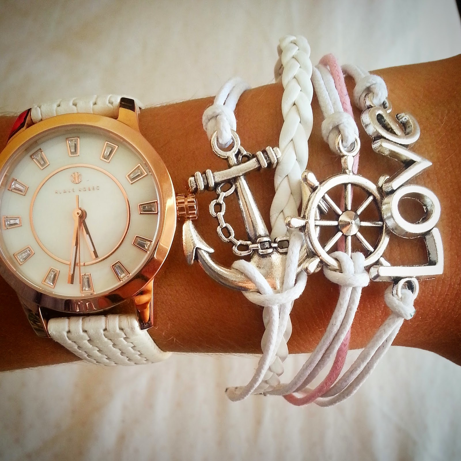 arm candy, watch, anchor chain, anchor trend, love, arm bracelets, bracelets, klaus kobec watch, arm candy and stuff,