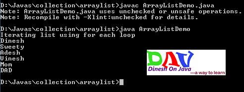 ArrayList Collection