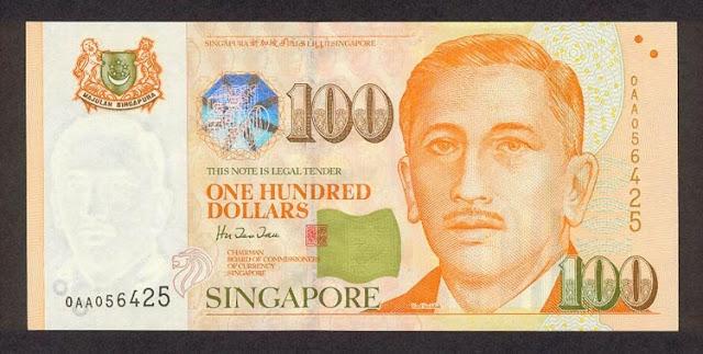 Singapore banknotes 100 Dollars