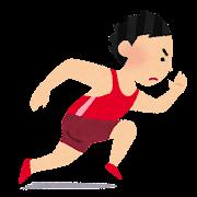 オリンピックのイラスト「陸上競技・短距離走」