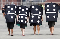 Walking Human Dominos