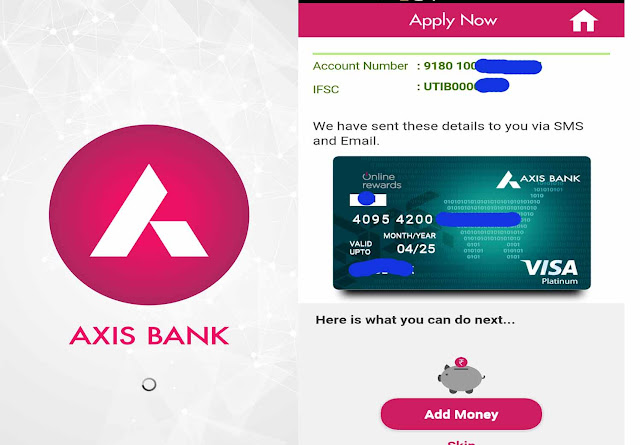 axis bank saving account open online